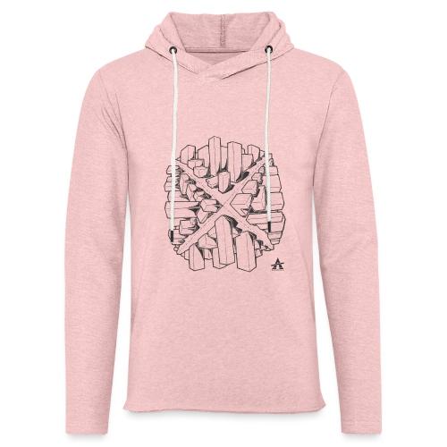 croix en perspective - Sweat-shirt à capuche léger unisexe