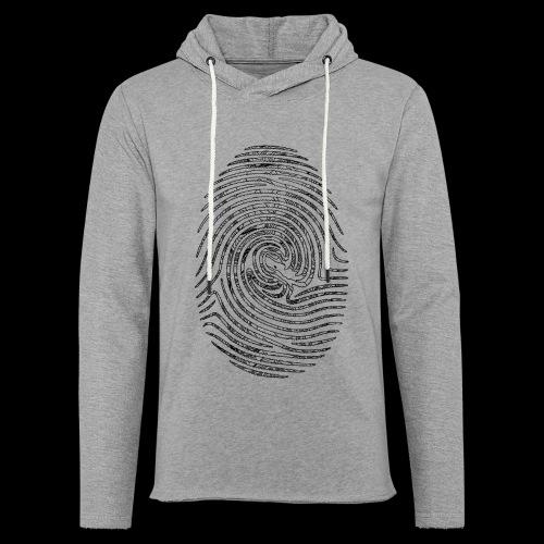 Tintenfisch Fingerabdruck schwarz - Leichtes Kapuzensweatshirt Unisex