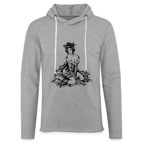 Geisha (black) - Leichtes Kapuzensweatshirt Unisex