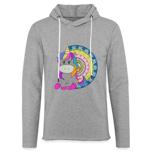 Unicorno Mandala - Felpa con cappuccio leggera unisex