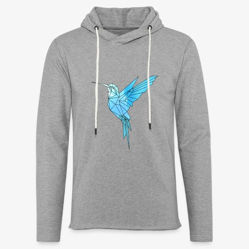 Kolibri Geometrisch - Leichtes Kapuzensweatshirt Unisex