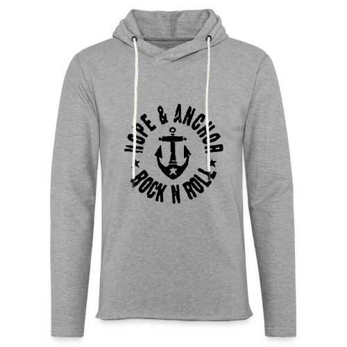 Hope & Anchor - Rock´n´Roll - Leichtes Kapuzensweatshirt Unisex
