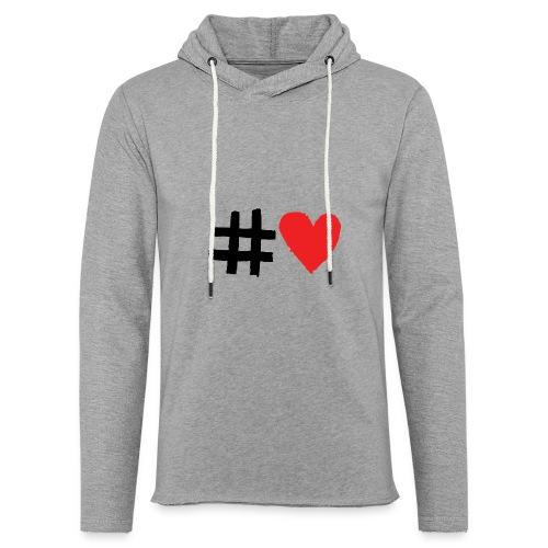 #Love - Let sweatshirt med hætte, unisex