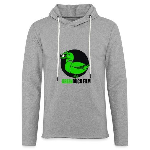 Greenduck Film Logo w. black letters - Let sweatshirt med hætte, unisex