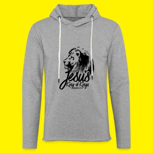 JESUS - KING OF KINGS - Revelations 19:16 - LION - Light Unisex Sweatshirt Hoodie