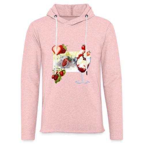 Erdbeerzeit - Leichtes Kapuzensweatshirt Unisex