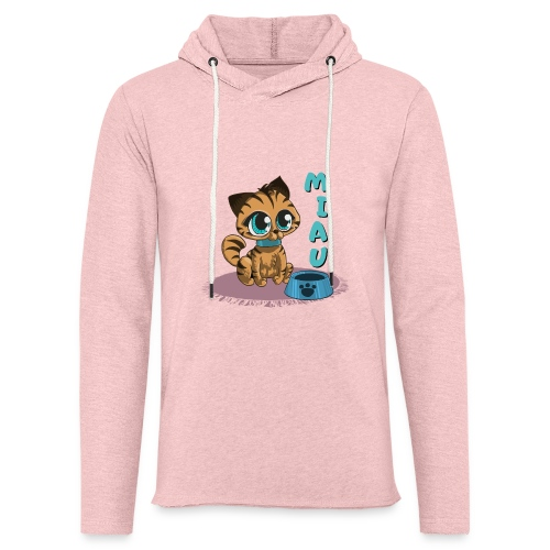 Miau - Leichtes Kapuzensweatshirt Unisex