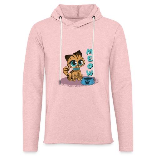 Meow - Leichtes Kapuzensweatshirt Unisex