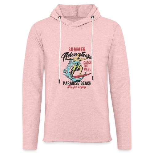 Time for Surfing - Leichtes Kapuzensweatshirt Unisex