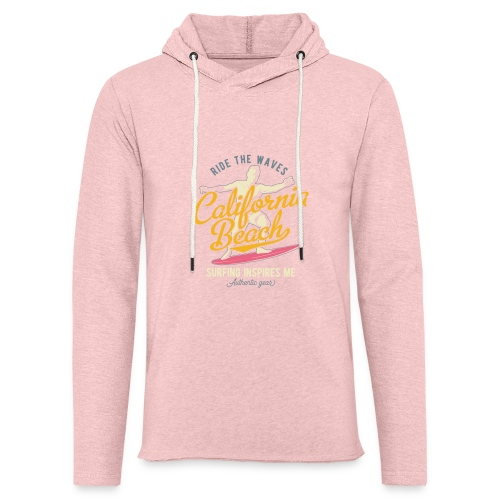Ride the Waves - Leichtes Kapuzensweatshirt Unisex