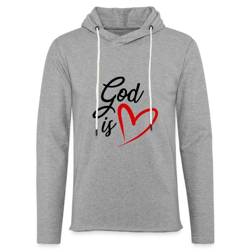 God is love 2N - Felpa con cappuccio leggera unisex