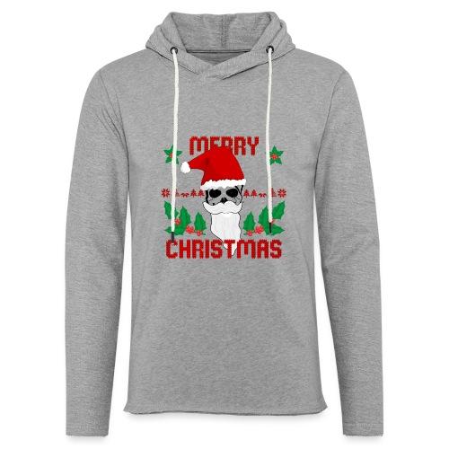 Merry Christmas Skull - Leichtes Kapuzensweatshirt Unisex