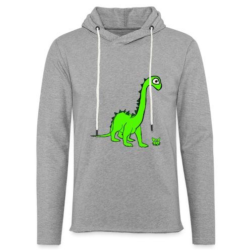 dinosauro - Felpa con cappuccio leggera unisex