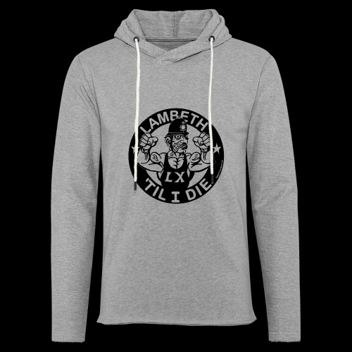 LAMBETH - BLACK - Light Unisex Sweatshirt Hoodie