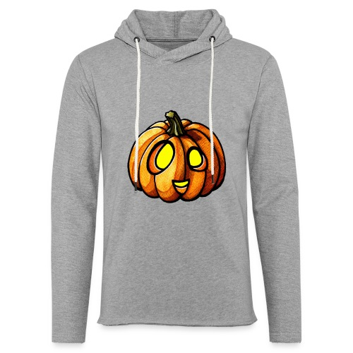 Pumpkin Halloween watercolor scribblesirii - Leichtes Kapuzensweatshirt Unisex