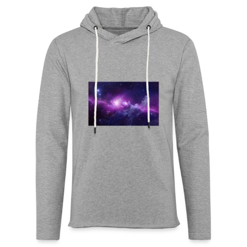 tshirt galaxy - Sweat-shirt à capuche léger unisexe