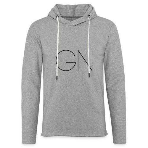 Långärmad tröja GN slim text - Lätt luvtröja unisex