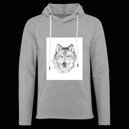 Wolf - Let sweatshirt med hætte, unisex