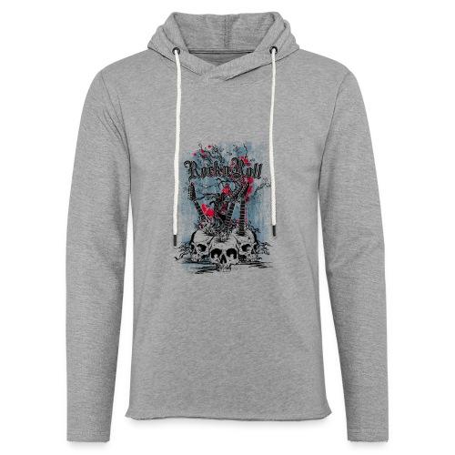 rock n roll skulls - Lichte hoodie unisex