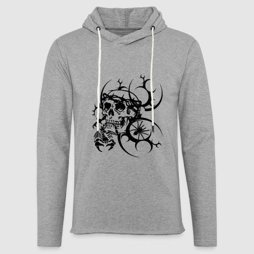 Tattoo Totenkopf - Leichtes Kapuzensweatshirt Unisex