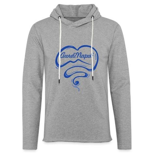 New Logo CuordiNapoli Blu - Felpa con cappuccio leggera unisex