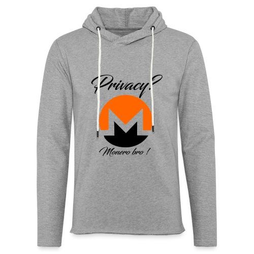 Moneroooo - Sweat-shirt à capuche léger unisexe