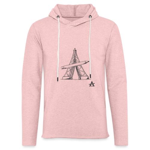 Tour Eiffel Crayon - Sweat-shirt à capuche léger unisexe