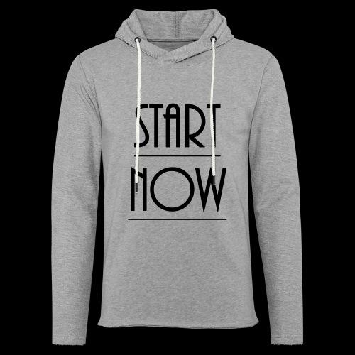 start now - Leichtes Kapuzensweatshirt Unisex