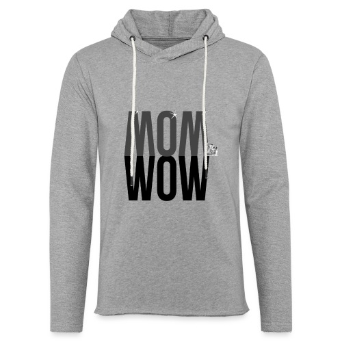 MOM WOW dunkel - Leichtes Kapuzensweatshirt Unisex