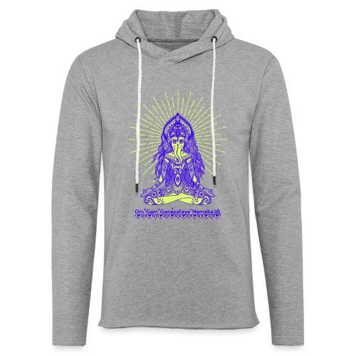 Yogafashion Hippie Ganesha dein Glücksgott - Leichtes Kapuzensweatshirt Unisex
