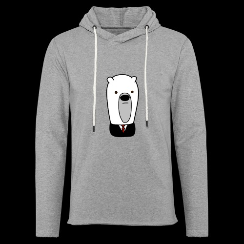 officel_polarbear_shop_logo - Let sweatshirt med hætte, unisex
