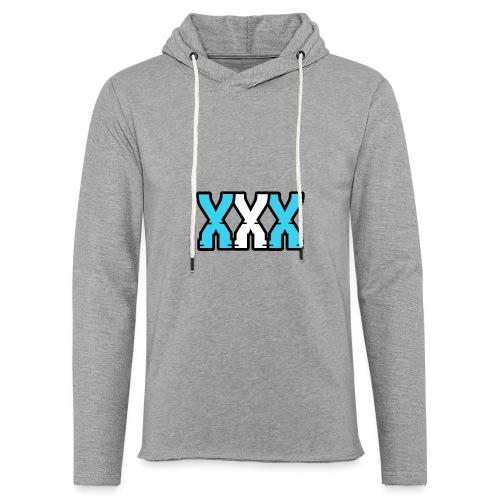 XXX (Blue + White) - Light Unisex Sweatshirt Hoodie
