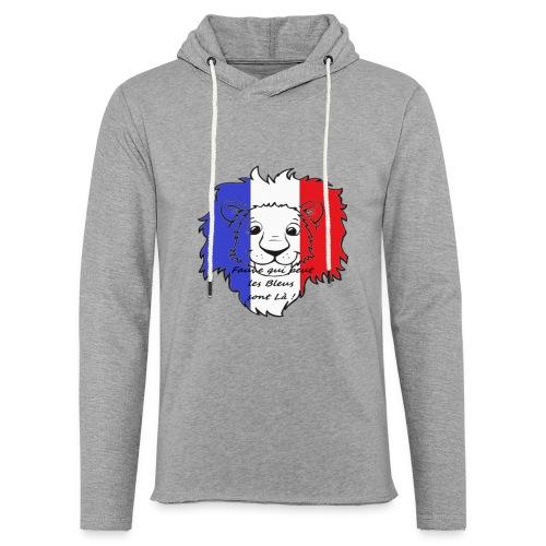 Lion supporter France - Sweat-shirt à capuche léger unisexe