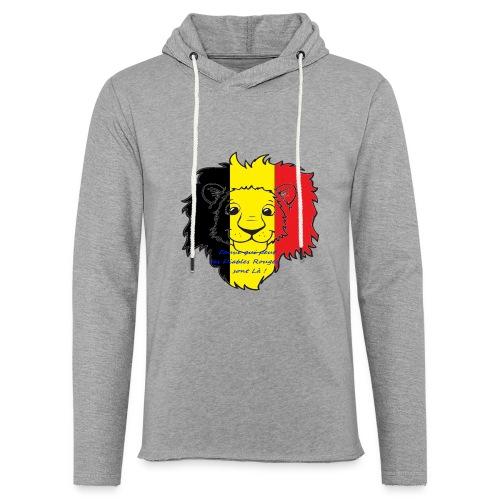 Lion supporter Belgique - Sweat-shirt à capuche léger unisexe