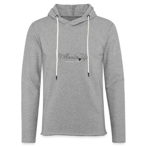 wheels up black figure - Light Unisex Sweatshirt Hoodie