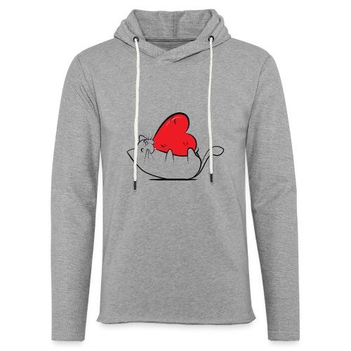 Cat Love - Lichte hoodie unisex