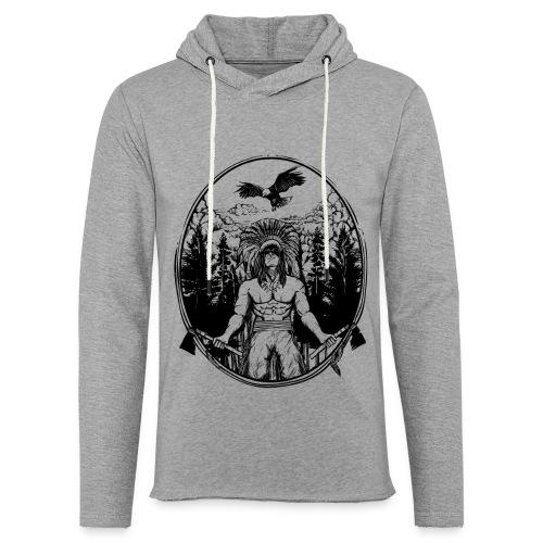 Indianer Krieger - Leichtes Kapuzensweatshirt Unisex