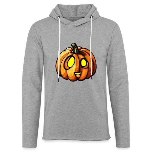 Pumpkin Halloween watercolor scribblesirii - Let sweatshirt med hætte, unisex