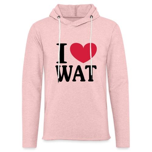 I love WAT - I ♥ Wattenscheid - Leichtes Kapuzensweatshirt Unisex