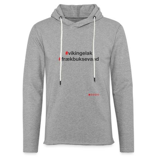 Hashtag - Let sweatshirt med hætte, unisex
