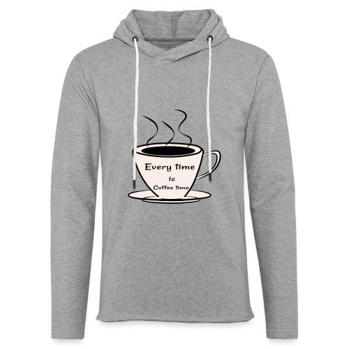 kaffe - Lätt luvtröja unisex