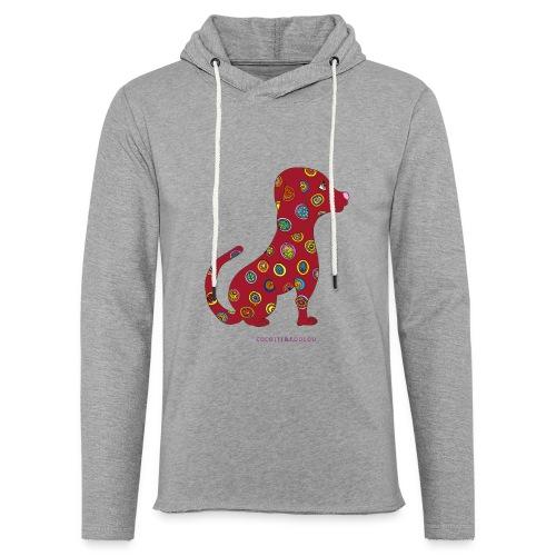 Lilo le chien fleuri - Sweat-shirt à capuche léger unisexe