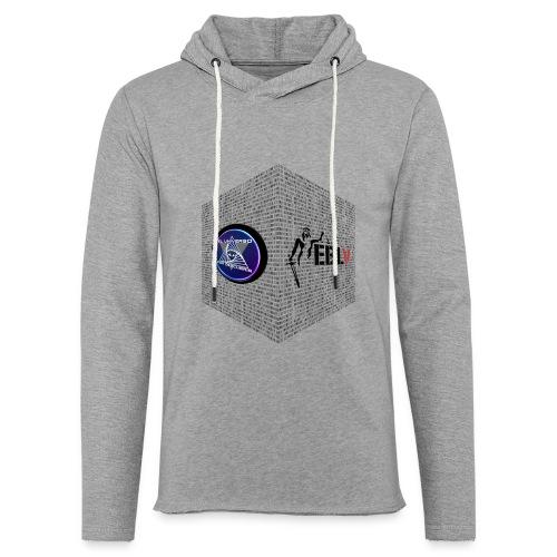 disen o dos canales cubo binario logos delante - Light Unisex Sweatshirt Hoodie