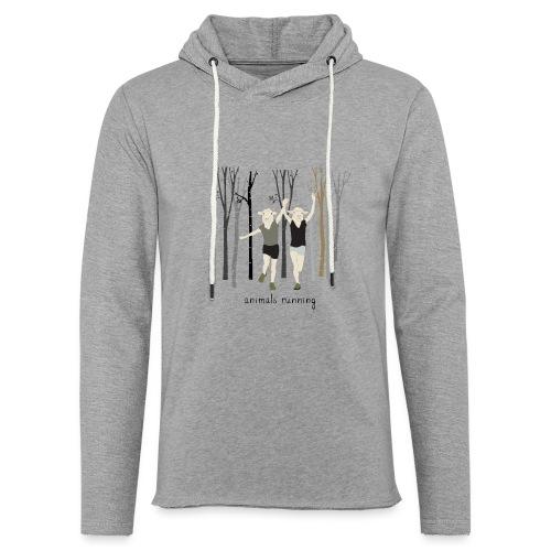 Moutons running - Sweat-shirt à capuche léger unisexe