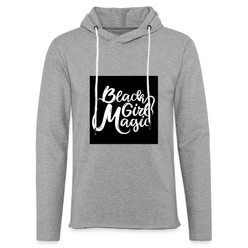 Black Girl Magic 1 White Text - Light Unisex Sweatshirt Hoodie