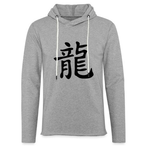 Chin. Schriftzeichen für DRACHE / DRAGON - Leichtes Kapuzensweatshirt Unisex