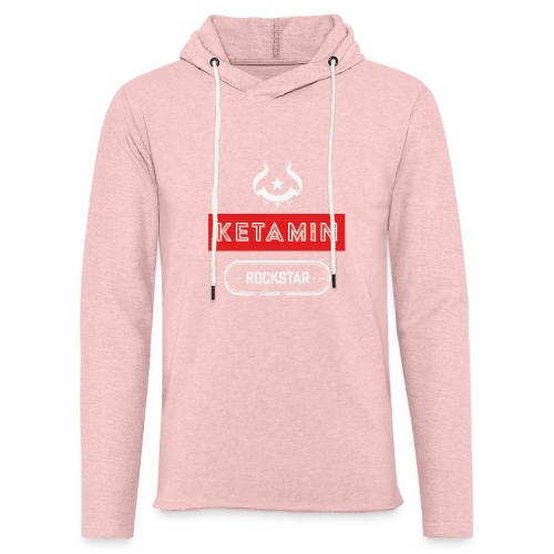 KETAMIN Rock Star - Weiß/Rot - Modern - Light Unisex Sweatshirt Hoodie