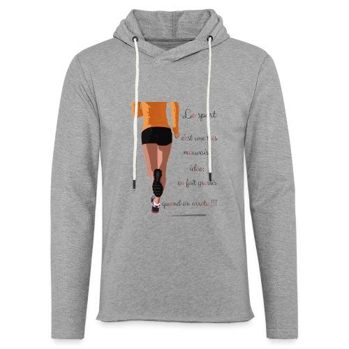 Sport et le régime - Sweat-shirt à capuche léger unisexe
