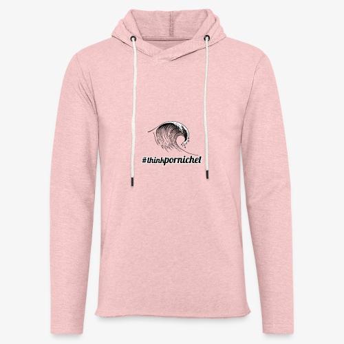 Vague Wave Thinkpornichet by DesignTouch - Sweat-shirt à capuche léger unisexe