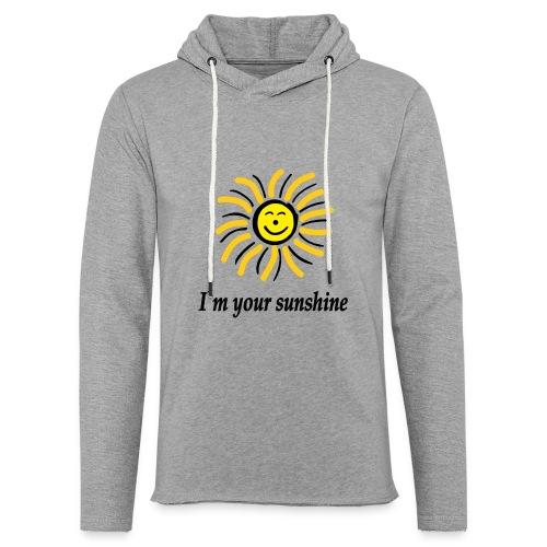 2i m youre sunshine Gelb Top - Leichtes Kapuzensweatshirt Unisex